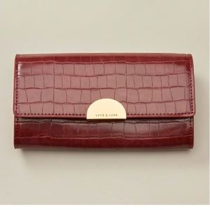 Love + Lore | Vegan Leather Clutch Wallet | Red